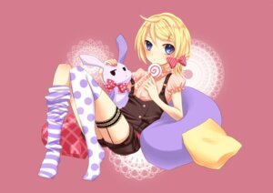 Rating: Safe Score: 17 Tags: garter kagamine_rin overalls stockings thighhighs vocaloid yayoi User: Nekotsúh