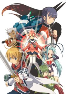 Rating: Safe Score: 3 Tags: air_colthearts animal_ears arno devil dina edge_colthearts gashin horns inumimi leki leotard mecha ryouga summon_night summon_night:_craft_sword_monogatari_2 sword tail thighhighs wings y-xe-ld User: Radioactive