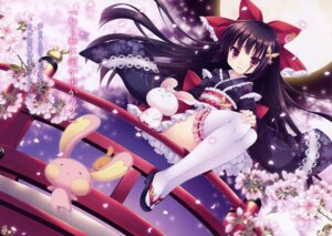 Rating: Safe Score: 96 Tags: dress fixed lolita_fashion roritora thighhighs tsukishima_yuuko wa_lolita User: 雪車町