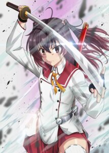 Rating: Safe Score: 9 Tags: seifuku skirt_lift sword tagme thighhighs toji_no_miko User: saemonnokami