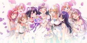 Rating: Safe Score: 25 Tags: ayase_eli dress hina_(hinalovesugita) hoshizora_rin koizumi_hanayo kousaka_honoka love_live! minami_kotori nishikino_maki sonoda_umi toujou_nozomi wedding_dress yazawa_nico User: charunetra