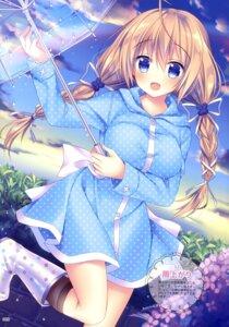 Rating: Questionable Score: 46 Tags: breast_hold dress sorai_shinya umbrella User: drop