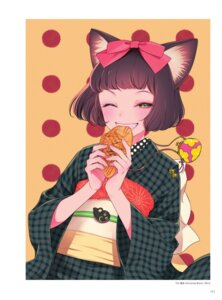 Rating: Safe Score: 17 Tags: animal_ears kimono morikura_en nekomimi User: Nepcoheart