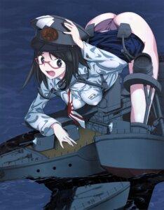 Rating: Questionable Score: 6 Tags: erect_nipples kurokuro mecha_musume megane pantsu skirt_lift uniform wet User: blooregardo