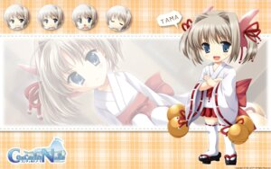 Rating: Safe Score: 9 Tags: applique chibi concerto_note miko odawara_hakone thighhighs wallpaper User: yuno