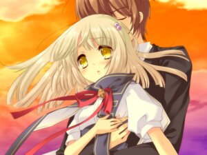 Rating: Safe Score: 13 Tags: flyable_heart game_cg ito_noizi katsuragi_shou seifuku unisonshift yukishiro_suzuno User: Radioactive