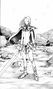 Rating: Safe Score: 3 Tags: armor claymore elena_(claymore) monochrome sword yagi_norihiro User: Radioactive