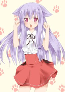 Rating: Safe Score: 32 Tags: animal_ears kiriya_nozomi kuxe mayoi_neko_overrun nekomimi seifuku User: Onpu