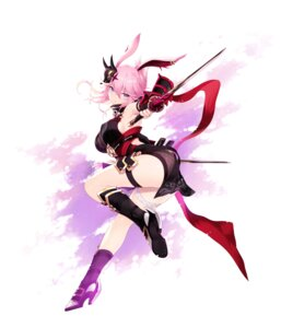 Rating: Safe Score: 38 Tags: animal_ears armor ass benghuai_xueyuan bunny_ears cait fishnets garter heels honkai_impact japanese_clothes sword yae_sakura_(benghuai_xueyuan) User: charunetra