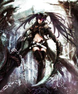 Rating: Safe Score: 39 Tags: black_rock_shooter black_rock_shooter_(character) insane_black_rock_shooter takakyo thighhighs vocaloid User: Dark_Person