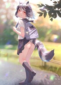 Rating: Questionable Score: 33 Tags: animal_ears ass chibi common_raccoon kemono_friends nopan seifuku skirt_lift st.takuma tail wardrobe_malfunction User: BattlequeenYume