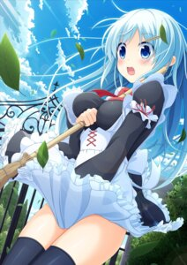 Rating: Questionable Score: 37 Tags: dress maid moe2015 skirt_lift sora_freebird thighhighs User: KazukiNanako