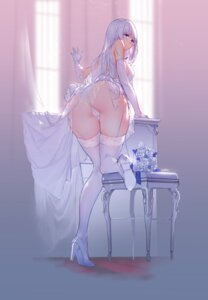 Rating: Questionable Score: 26 Tags: ass azur_lane cameltoe dress heels illustrious_(azur_lane) no_bra pantsu see_through skirt_lift stockings swd3e2 thighhighs thong User: Rejectors