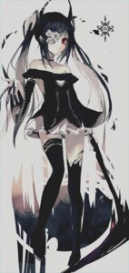 Rating: Safe Score: 33 Tags: eyepatch greennight horns thighhighs weapon User: BattlequeenYume