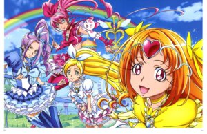 Rating: Questionable Score: 5 Tags: dress houjou_hibiki hummy kurokawa_ellen minamino_kanade pretty_cure shirabe_ako suite_pretty_cure takahashi_akira thighhighs User: drop