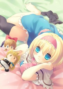 Rating: Safe Score: 20 Tags: alice_margatroid kirisame_marisa nekoiro thighhighs touhou User: fairyren