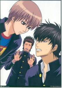 Rating: Safe Score: 5 Tags: gintama hijikata_toushirou kondou_isao male okita_sougo User: Davison