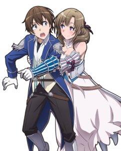 Rating: Safe Score: 14 Tags: armor cleavage dress tagme tsuujou_kougeki_ga_zentai_kougeki_de_ni-kai_kougeki_no_okaasan_wa_suki_desu_ka? uniform User: kiyoe