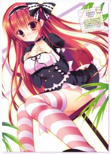 Rating: Safe Score: 75 Tags: breast_hold cleavage dress sakura_hanpen thighhighs User: Twinsenzw