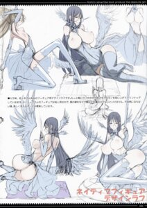 Rating: Questionable Score: 25 Tags: ass breasts dress honjou_raita mahou_shoujo_(raita) nipples nopan sasaki_kotone sketch suzuhara_misae thighhighs torn_clothes weapon wings zettai_shoujo User: Radioactive