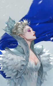 Rating: Safe Score: 8 Tags: cleavage dress elsa_(frozen) frozen srasa User: charunetra