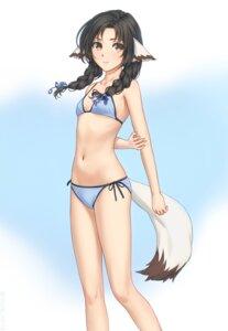 Rating: Safe Score: 23 Tags: animal_ears bikini eruruu miura_naoko swimsuits tail utawarerumono User: yanis
