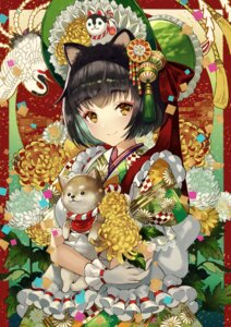 Rating: Safe Score: 40 Tags: animal_ears kimono terai_(teraimorimori) User: Mr_GT