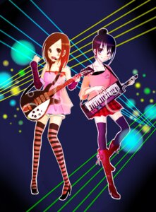 Rating: Safe Score: 4 Tags: aika guitar thighhighs User: Radioactive