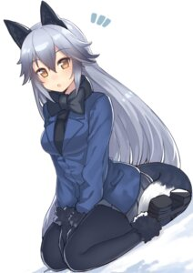 Rating: Safe Score: 37 Tags: animal_ears hajime_kaname kemono_friends pantyhose silver_fox tail User: Mr_GT