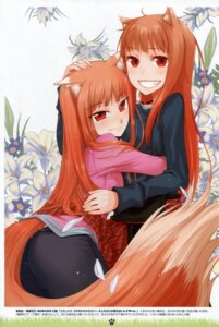 Rating: Safe Score: 49 Tags: animal_ears ayakura_juu holo koume_keito spice_and_wolf tail User: Eruru