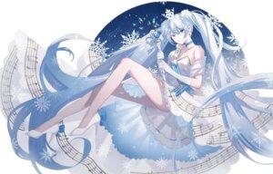 Rating: Safe Score: 22 Tags: aono_99 dress hatsune_miku heels skirt_lift vocaloid yuki_miku User: Arsy