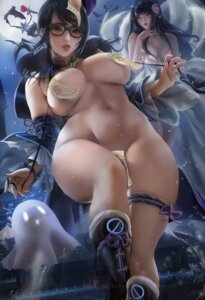 Rating: Questionable Score: 54 Tags: ahri areola breast_hold garter maebari megane mei_(overwatch) naked overwatch pasties sakimichan sheets tail User: BattlequeenYume