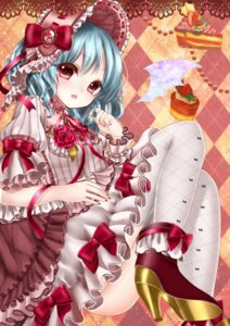 Rating: Questionable Score: 42 Tags: heels nopan remilia_scarlet shanghai_bisu thighhighs touhou wings User: charunetra