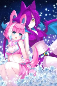 Rating: Safe Score: 44 Tags: animal_ears anthropomorphization cleavage crobat felicia-val pokemon sylveon tail wings User: Mr_GT