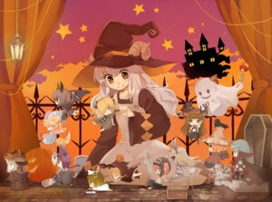 Rating: Safe Score: 21 Tags: chibi halloween horns monorino witch User: Nekotsúh