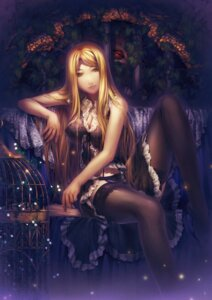 Rating: Questionable Score: 71 Tags: cleavage lingerie pantsu simosi stockings thighhighs User: vistigris