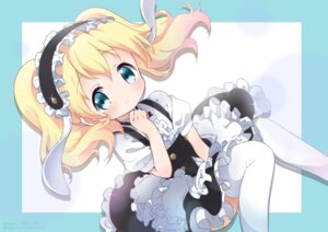 Rating: Safe Score: 33 Tags: alice_cartelet cosplay gochuumon_wa_usagi_desu_ka? kin'iro_mosaic kirima_sharo maid thighhighs waki_(pixiv2609622) User: cosmic+T5