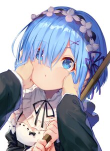 Rating: Safe Score: 45 Tags: cleavage maid re_zero_kara_hajimeru_isekai_seikatsu rem_(re_zero) soya_(torga) User: yanis
