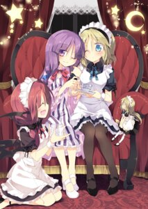 Rating: Safe Score: 30 Tags: alice_margatroid dress heels koakuma maid pantyhose patchouli_knowledge satoukibi shanghai touhou User: Mr_GT