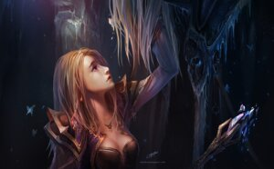 Rating: Safe Score: 58 Tags: arthas_menethil chenbo cleavage jaina_proudmoore wallpaper world_of_warcraft User: eridani
