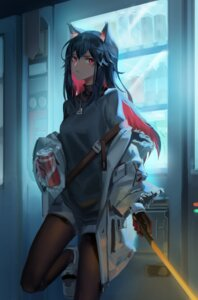Rating: Safe Score: 26 Tags: animal_ears arknights pantyhose sweater sword texas_(arknights) xiaofengliuxing User: Dreista