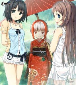 Rating: Safe Score: 44 Tags: arishima_alice cura kimono lose monobeno sawai_natsuha sumi_(monobeno) User: bakatori