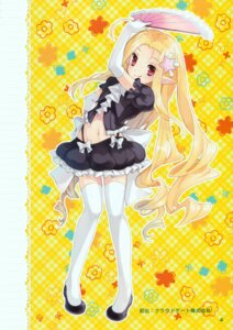 Rating: Safe Score: 32 Tags: elf inadequate_print_resolution mottsun pointy_ears thighhighs User: yong
