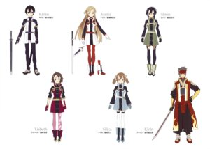 Rating: Safe Score: 13 Tags: asuna_(sword_art_online) kirigaya_suguha kirito lisbeth megane pantyhose ryoutarou_tsuboi shino_asada silica sword sword_art_online thighhighs uniform User: drop