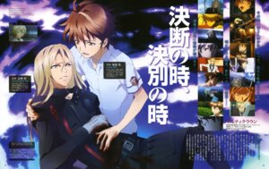 Rating: Safe Score: 4 Tags: guilty_crown kuroiwa_yumi male ouma_shuu tsutsugami_gai User: Ravenblitz