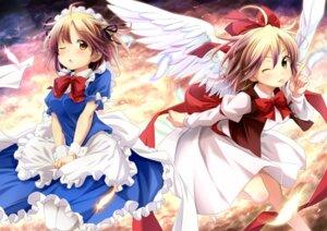 Rating: Safe Score: 28 Tags: ayase_midori gengetsu maid mugetsu_(touhou) touhou wings User: Radioactive