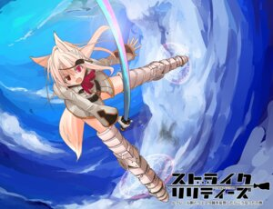 Rating: Safe Score: 9 Tags: fantasy_earth_zero nob parody strike_witches sword thighhighs User: fairyren
