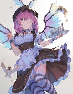 Rating: Safe Score: 23 Tags: animal_ears cleavage maid mystia_lorelei rin_falcon skirt_lift thighhighs touhou wings User: Mr_GT