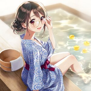 Rating: Questionable Score: 28 Tags: megane morikura_en tagme wet yukata User: hiroimo2