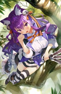 Rating: Safe Score: 74 Tags: animal_ears cheshire_cat gaou_(matsulatte) grimms_echoes heels nekomimi thighhighs weapon User: aaayu